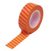 Dress My Cupcake Washi Decorative Tape for Gifts/Favours, Circus Stripes, Orange