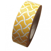 Dress My Cupcake DMC41WT412 Washi Decorative Tape for Gifts and Favours, Yellow Garden Trellis