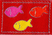 Venus Ribbon 3cm by 2.5cm Iron On Dancing Fish Applique, 5-Yard