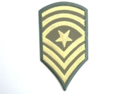 "Sergeant Major Stripes Army Navy Military Iron On Sew On Embroidered Patch 3.9""10cm x 2.4""/5.4cm"