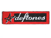"""DEFTONES Star Logo Iron On Embroidered Patch 4.6""""/11.6cm x 1.2""""/3.4cm By MNC Shop"""
