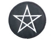 "PENTAGRAM Iron On Black Metal Satanic Embroidered Patch 2.6""/6.8cm x 2.6""/6.8cm By MNC Shop"