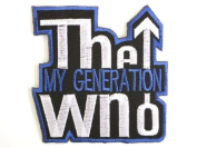 "THE WHO Generation Iron On Embroidered Patch 2.9""/7.5cm x 2.9""/7.5cm By MNC Shop"