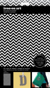 Sew Easy Industries 1-Sheet Solid Chevron Transfer, 14cm by 23cm , Black/White