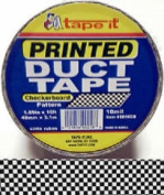 Checkerboard Print All Purpose Duct Tape, 10 Ft Length X 4.8cm Width, Black and White