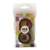Masking tape 2P [cloisonne, red × Susuiro] MT02D059