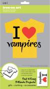 Sew Easy Industries 1-Sheet 'I Heart Vampires' Transfer, 14cm by 23cm