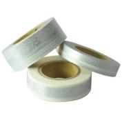 Japanese Washi Masking Tape Set of 3 - Scrapaholic Lace Silver