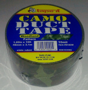 Digitised Camouflage Print All Purpose Duct Tape, 10 Ft Length X 4.8cm Width, Green, Grey, Brown, and Black