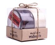 World's Best Duct Tape Wallet Kit | BRAZILIAN ROSEWOOD + WHITE LINEN