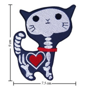 Cat Ghost Cartoon Comic patches 7.5x9 cm Iron on Patch / Embroidered Patch This Appliques Are Great for T-shirt, Hat, Jean ,Jacket, Backpacks.
