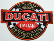 Ducati patches 10.8x8.5 cm Iron on Patch / Embroidered Patch This Appliques Are Great for T-shirt, Hat, Jean ,Jacket, Backpacks.