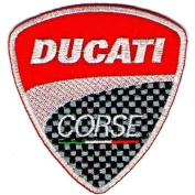 Ducati patches 7.5x8.5 cm Iron on Patch / Embroidered Patch This Appliques Are Great for T-shirt, Hat, Jean ,Jacket, Backpacks.