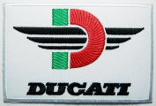 Ducati patches 9.5x6.3 cm Iron on Patch / Embroidered Patch This Appliques Are Great for T-shirt, Hat, Jean ,Jacket, Backpacks.