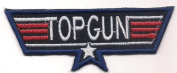 TOP GUN (80's action movie logo patch) 10.2x3.2 Cm Iron on Patch / Embroidered Patch This Appliques Are Great for T-shirt, Hat, Jean ,Jacket, Backpacks.