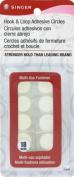 Dyno Merchandise Circle Singer Hook and Loop Adhesive Back, White