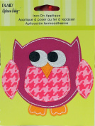 Uptown Baby 34310 Printed Fabric Iron on Appliques, Medium, Owl
