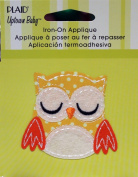 Uptown Baby 34535 Printed Fabric Iron on Appliques, Small, Yellow Owl