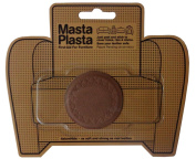 MastaPlasta Peel and Stick TAN First-Aid Leather Repair Band-Aid. Plain circle design 5.1cm wide. TAN