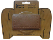 MastaPlasta Peel and Stick First-Aid Leather Repair Band-Aid. Plain design 10cm by 6.1cm . TAN
