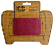 MastaPlasta Peel and Stick First-Aid Leather Repair Band-Aid for Furniture, Medium Plain, 10cm by 6.1cm , Red