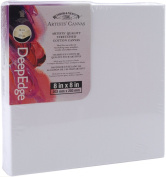 Winsor Newton 20cm by 20cm Artists Quality Deep Edge Stretched Canvas