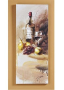 Giftcraft Canvas Wine Bottle Print