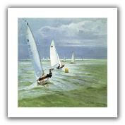 ArtWall 'Around The Buoy' Flat Unwrapped Canvas Art by Timothy Easton, 60cm by 60cm