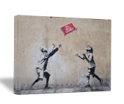 "Banksy "" No Ball Game "" 18x 90.8lery Wrapped Canvas"