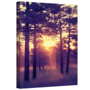 """ArtWall """"Woodland Sunset"""" Gallery Wrapped Canvas Artwork by Elena Ray, 30cm by 46cm"""