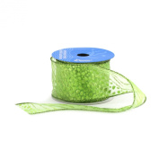 Berwick 6.4cm Wide by 10-Yard Spool Wired Edge Cats Craft Ribbon, Citrus