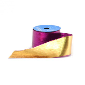 Berwick 6.4cm Wide by 10-Yard Spool Wired Edge Flipside Craft Ribbon, Purple