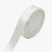 YazyCraft Satin Ribbon White 2.5cm