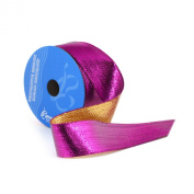 Berwick 3.8cm Wide by 10-Yard Spool Wired Edge Flipside Craft Ribbon, Purple