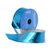 Berwick 3.8cm Wide by 10-Yard Spool Wired Edge Flipside Craft Ribbon, Turquoise