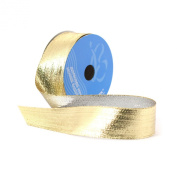 Berwick 3.8cm Wide by 10-Yard Spool Wired Edge Flipside Craft Ribbon, Gold