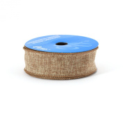 Berwick 3.8cm Wide by 10-Yard Spool Wired Edge Saddle Craft Ribbon, Natural