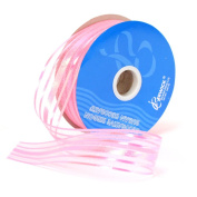 Berwick Halo Sheer Craft Ribbon, 3.2cm Wide by 25-Yard Spool, Pink
