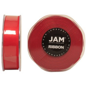 Red Satin 2.2cm thick x 25 yards Spool of Double Faced Satin Ribbon - Sold individually