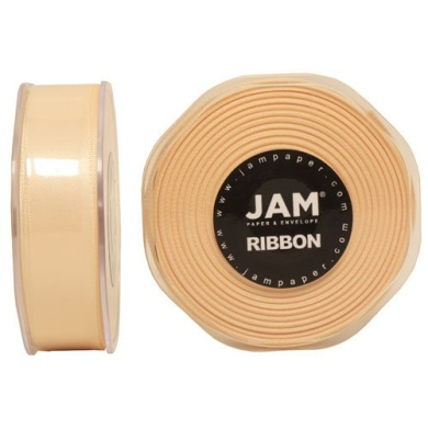 Ivory Satin 2.2cm thick x 25 yards Spool of Double Faced Satin Ribbon - Sold individually