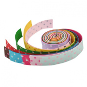YazyCraft Multi-coloured Polka Dot 2.2cm Ribbons 10 rolls