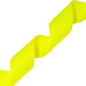 Morex Ribbon Neon Grosgrain Ribbon, 3.8cm by 20-Yard, Neon Yellow