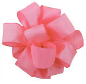 Offray Wired Edge Gelato Craft Ribbon, 1.6cm Wide by 25-Yard Spool, Hot Pink