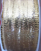 Holiday Time Craft SPOOL of GOLD METALLIC RIBBON TRIM 0.3cm Wide x 10 YARDS Long