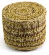 Kel-Toy Mixed Colour Jute Burlap Ribbon Roll, 10cm by 10-Yard, Natural/Brown
