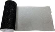 Reliant Ribbon Glitter Tulle Ribbon, Black