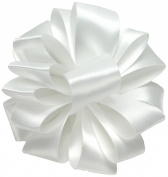 Offray Double Face Satin Craft Ribbon, 1.6cm Wide by 20-Yard Spool, White