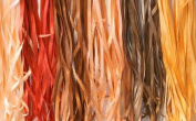 New Threadsrus 6 Spools of 100% Pure Silk Ribbons - Brown Tones - 60 mts x 4mm