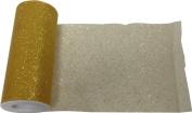 Reliant Ribbon Glitter Tulle Ribbon, Gold