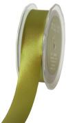 May Arts 2.5cm Wide Ribbon, Olive Satin